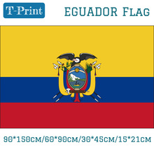 Free shipping Eguador National Flag 90*150cm 60*90cm 15*21cm For World Cup / Day Olympic Games 30*45cm Car