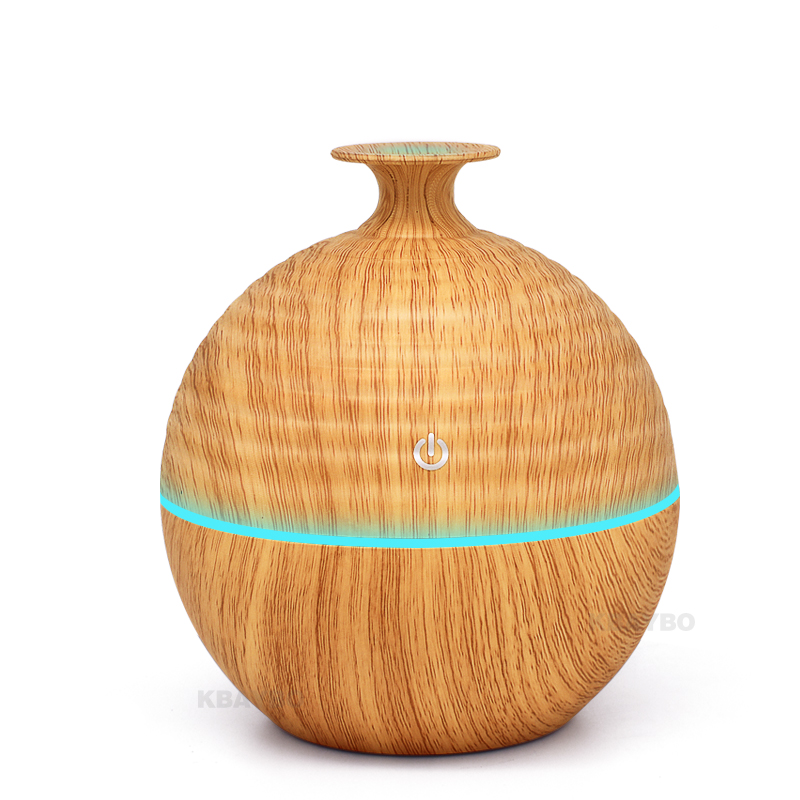 USB Evaporative Humidifie 130ml Aroma Diffuser Essential Oil Diffuser Aromatherapy mist maker with 7 color LED Light Wood grain aroma diffuser 130ml
