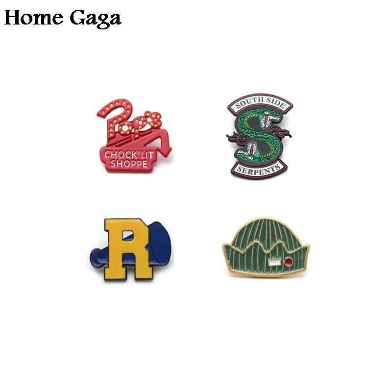 Homegaga Riverdale trendy Zinc pins Movie style stickers para diy backpack clothes for bag badge brooches for men women D0948
