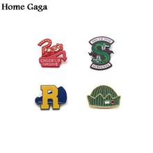 Homegaga Riverdale trendy Zinc pins Movie style stickers para diy backpack clothes for bag badge brooches for men women D0948(China)