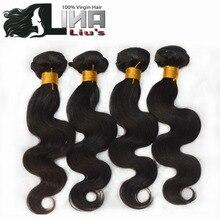 Peruvian Virgin Hair Body Wave 3pcs Lina Hair Products 100% Unprocessed Virgin Human Hair Weave Peruvian Body Wave