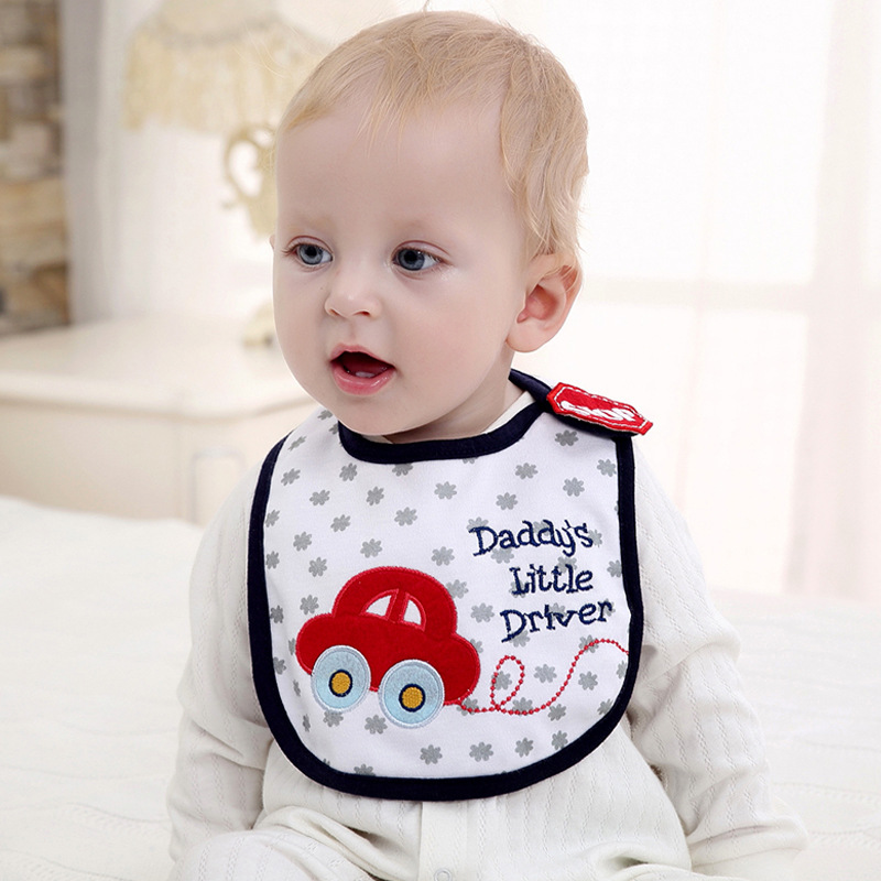 Baby Bibs Fashion Cotton Infant Saliva Towels Newborn Burp Cloths Apron Girl Boy 3 Layer Style Waterproof Bib ...