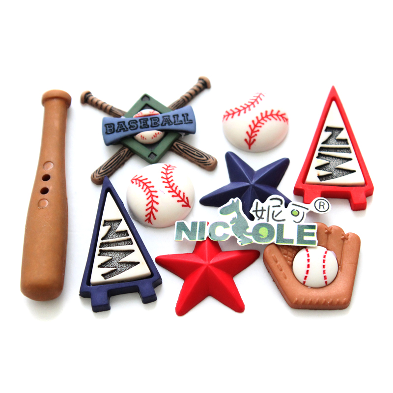 Nicole F0608 Baseball Supplies Shape Fondant Silicone Molds for Cake Decorating Tools in Cake Molds from Home Garden