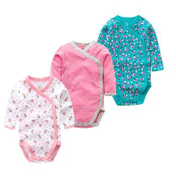 Czasy #8222 ulubione 3 sztuk partia 100 bawełna body niemowlęce kombinezon niemowlęcy z długim rękawem dla niemowląt chłopców dziewcząt ubrania noworodka odzież tanie i dobre opinie Times Favourite COTTON Moda Cartoon Dla dzieci O-neck Unisex Pełna Pasuje prawda na wymiar weź swój normalny rozmiar
