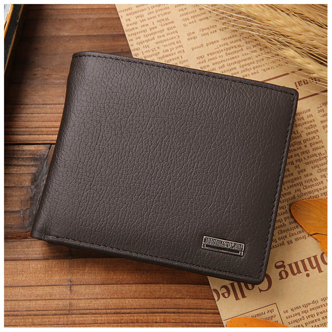 JINBAOLAI Small Short Leather Mens Wallet Male Wallet Bag Wallet Vallet Card Money Persian world Wallet ...