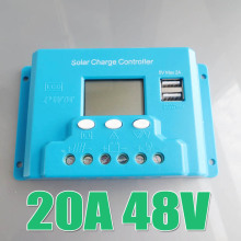 New type 30A 48V intelligence solar system Panel Battery Charge Controller Regulators LCD 5V USB voltage adjustable