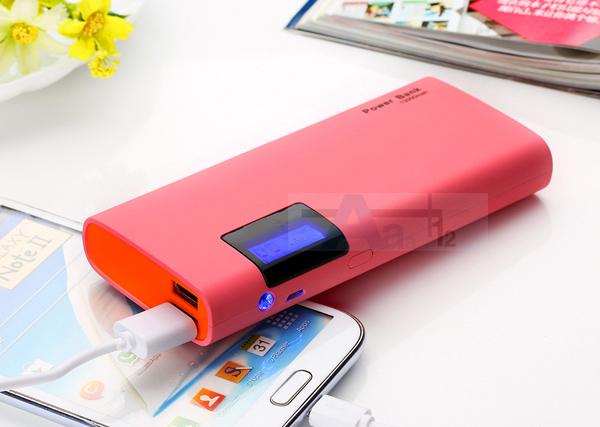 Dcae nuevo banco de la energía 12000 mah dual usb lcd cargador de batería powerbank portátil para iphone smartphone