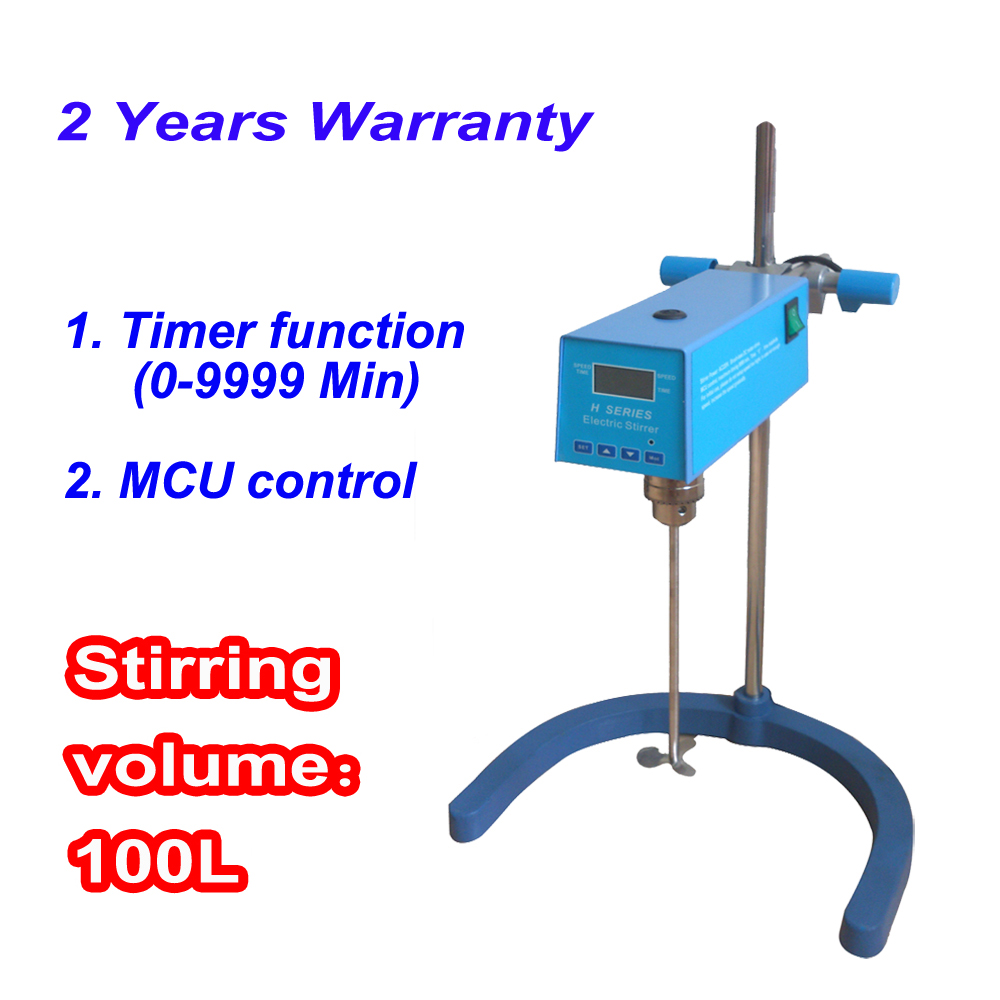 Free shipping, Stirring Volume Max 100L LED Laboratory Overhead Stirrer with Timer eylure volume 100