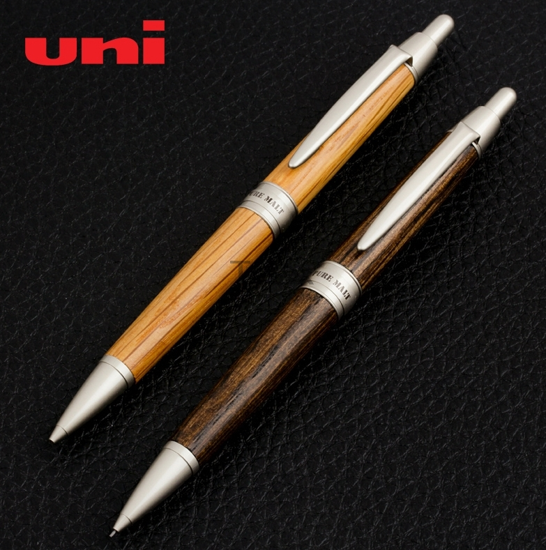 купить 3 Pcs/Lot Mitsubishi Uni M5-1025 Oak Wood Mechanical Pencil 0.5mm 2 colors Writing Supplies Office & School Supplies онлайн