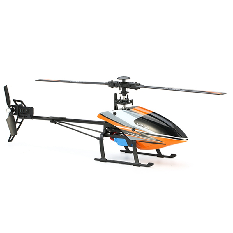 Nowy gorący WLtoys V950 2.4G 6CH 3D6G zabawki na świeżym powietrzu prezent 2830KV bezszczotkowy Flybarless samolot BNF RC helikopter RC samolot w Części i akcesoria od Zabawki i hobby na  Grupa 1