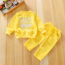 Sports suit boy baby clothes set high-quality long-sleeved round neck cotton Embroider kits for girls Fashion kids Set clothes