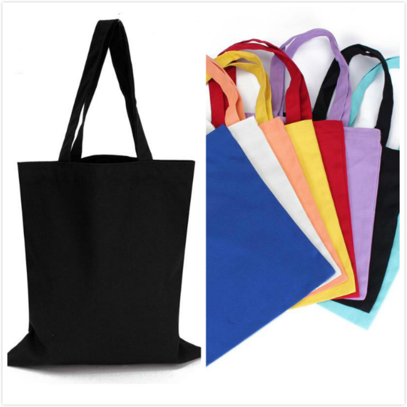 Candy color portable shopping bag canvas large capacity Reusable shopping bags Lady Beach Pouch Promotion handbag fast shipping