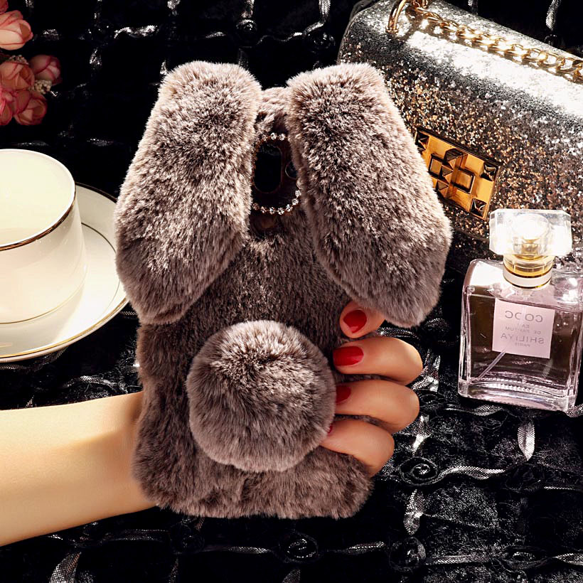 Image 4 - Rabbit Fur Cases For ZTE Blade A910 A610 A602 A601 A530 A606 A522 A520 A511 A515 A510 A330 A310 A462 Plus BV0730 BA910 Case Bags-in Fitted Cases from Cellphones & Telecommunications