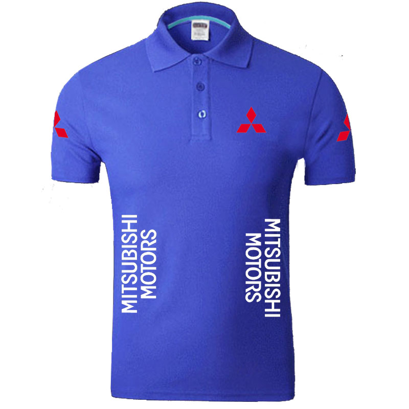 Summer Mitsubishi logo Men   Polo   Shirt Brand Clothing Cotton Casual   Polo   Shirt Short Sleeve   Polo   Shirt