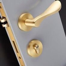 1 комплект латунный дверной замок Удобный Круглый межкомнатный дверной ручки Черный неравный замок для шкафа с двумя дверцами межкомнатный замок дверная фурнитура JF1946