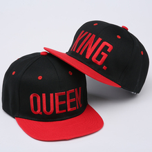 "Embroidered ""King and Queen"" Snapback Cap"
