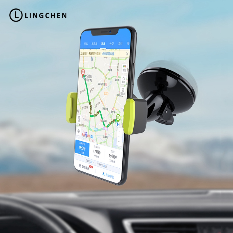 LINGCHEN Car Mobile Phone Holder Adjustable Suction Cup Holder Stands Universal Windshield In Car For IPhone 5 X XS MAX XR Phone