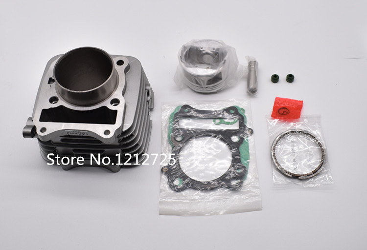 Moto cross QM200 QM200GY GS200 moteur cylindre moto cycle définit cylindre alésage taille 66mm Piston broche 16mm moto cylindre