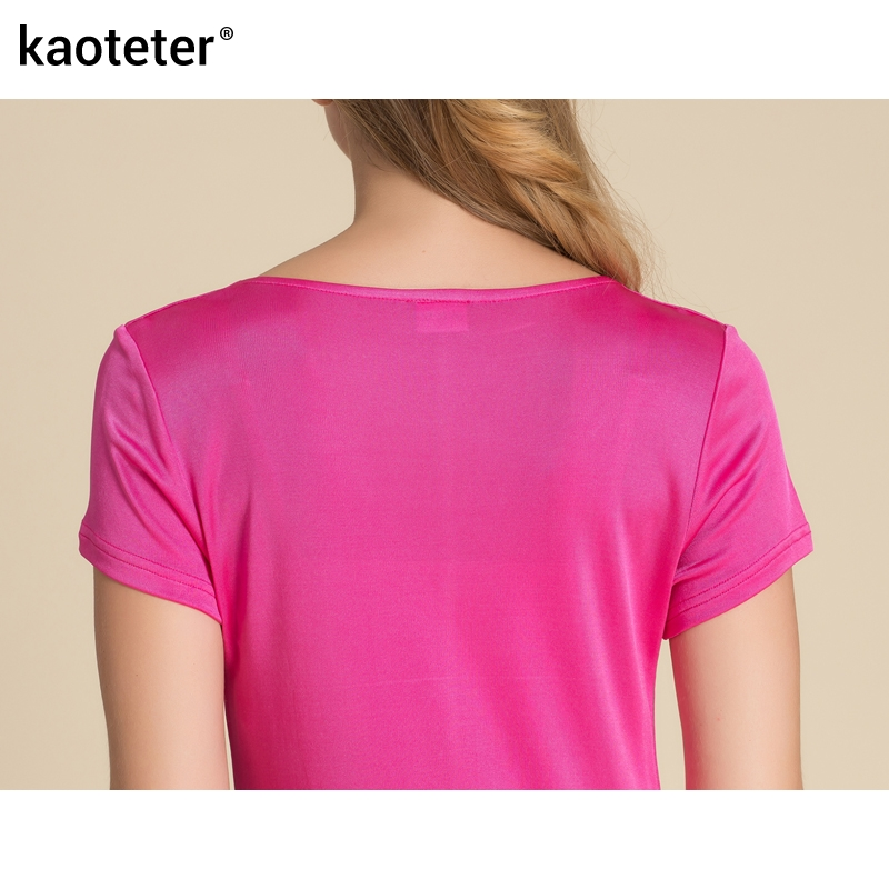 100% մաքուր մետաքսե կանացի շապիկներ - Կանացի հագուստ - Լուսանկար 5