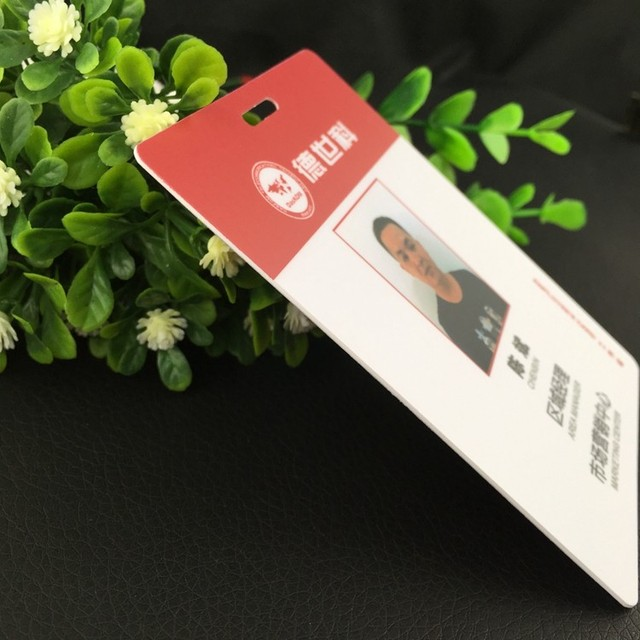 100pcsone design custom 10070mm name badge holder plastic pvc 100pcsone design custom 10070mm name badge holder plastic pvc matte hole card reheart Choice Image