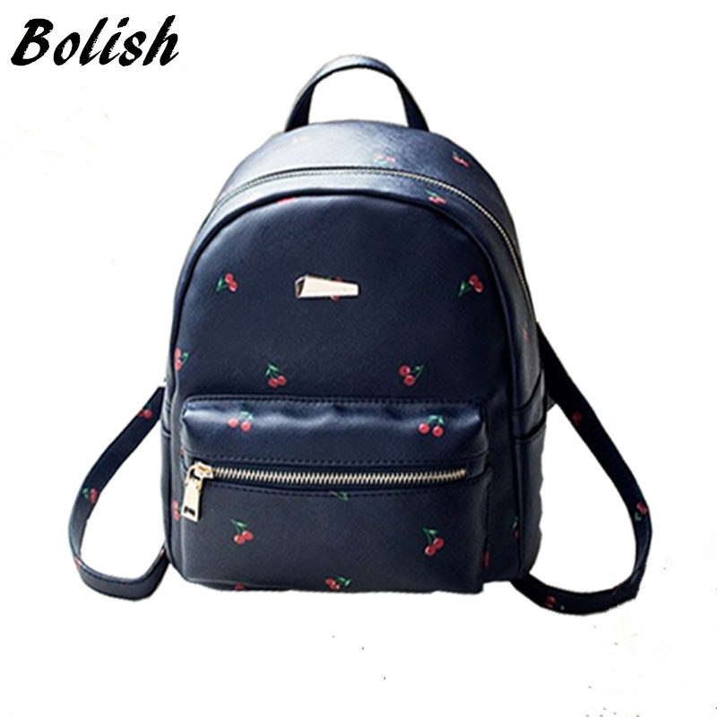 Bolish Fashion Fruit Printing Women Female Backpack College Student School Bag for Teenagers Mochila Rucksack Travel