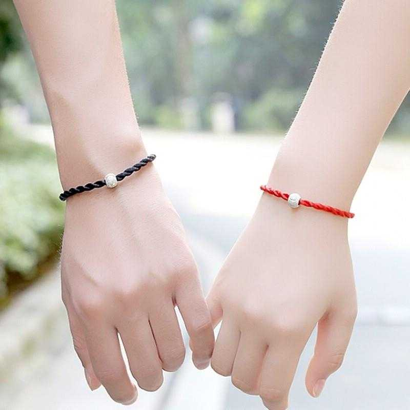 1 PCS Red Black The Rope Charm Bracelets Fashion Lucky Red Black Handmade Rope Bangles for Women Men Lovers Build