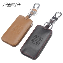jingyuqin Leather Car key Card Cover Case fit for Renault Koleos Kadjar Keychain Wallet Protector Holder