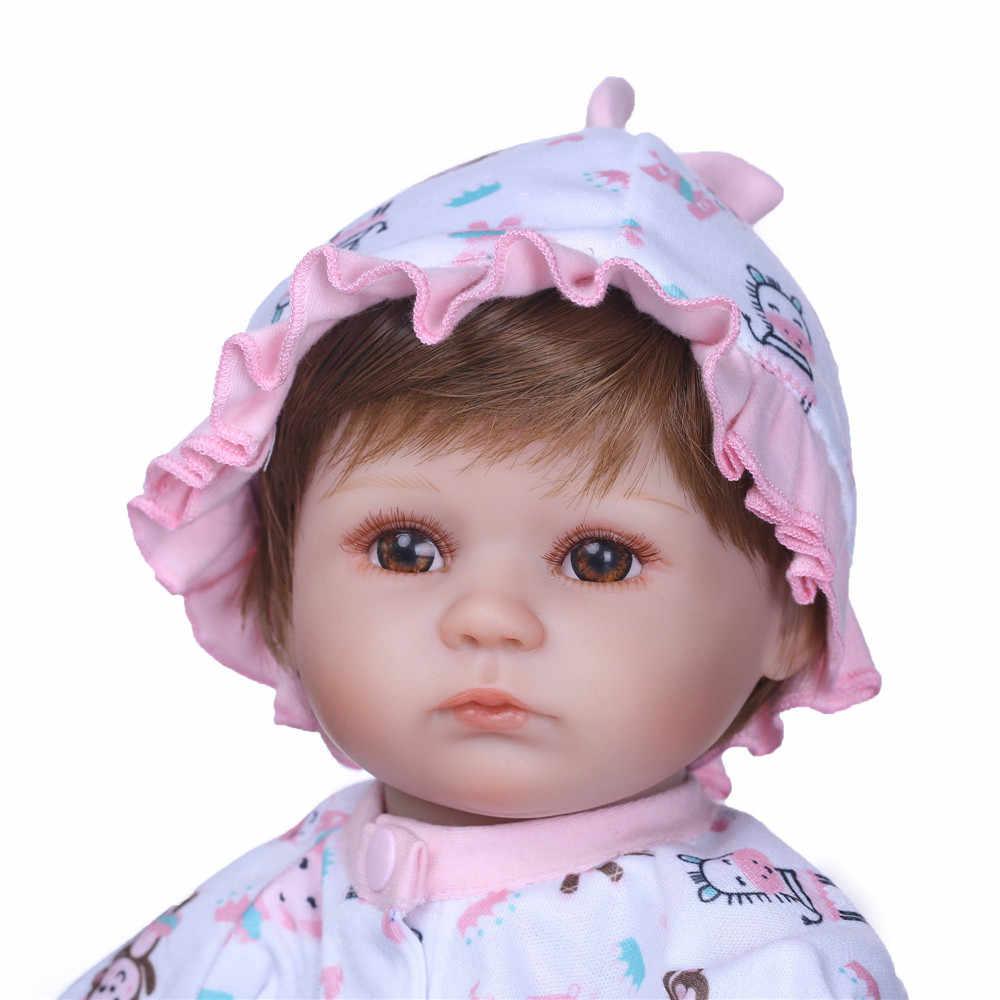 42 cm אמיתי חיים כמו יילוד תינוק Reborn סיליקון תינוק בובת צעצועי lol בובות בעבודת יד bebes בחיים זול צעצועי ילדים יום הולדת הווה