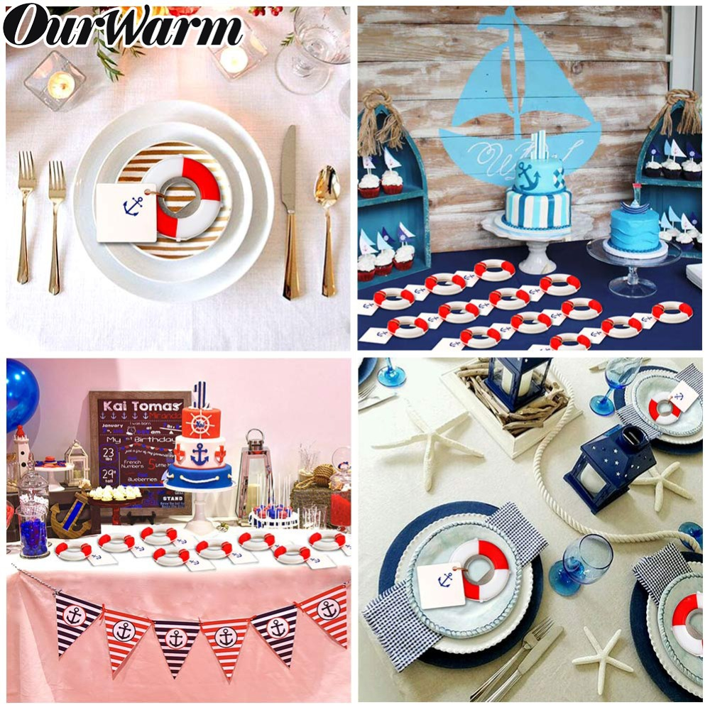 OurWarm Wedding Gifts 20pcs Lifesaver Bottle Opener Party Favors for Wedding DIY Decoration Supplies Nautical Bridal Shower Kids in Party Favors from Home Garden