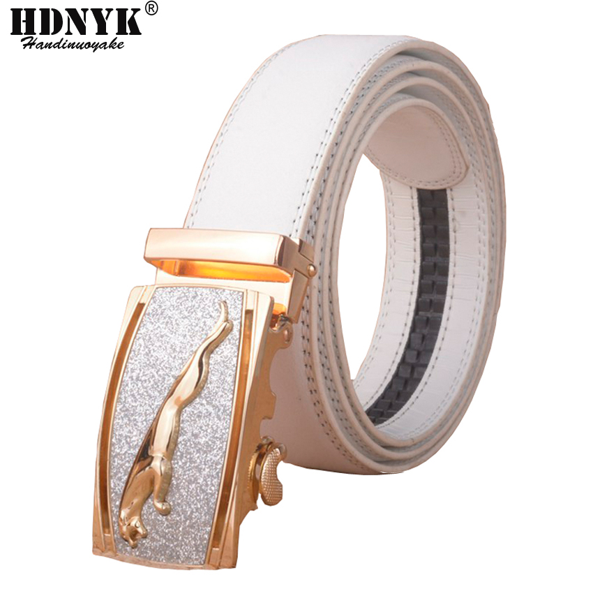 Hot Selger Brand High-grade Bentley Unisex Automatiske Buckle Belter Menn Business Casual Ekte Skinn Luksus Hvit Belt For Menn