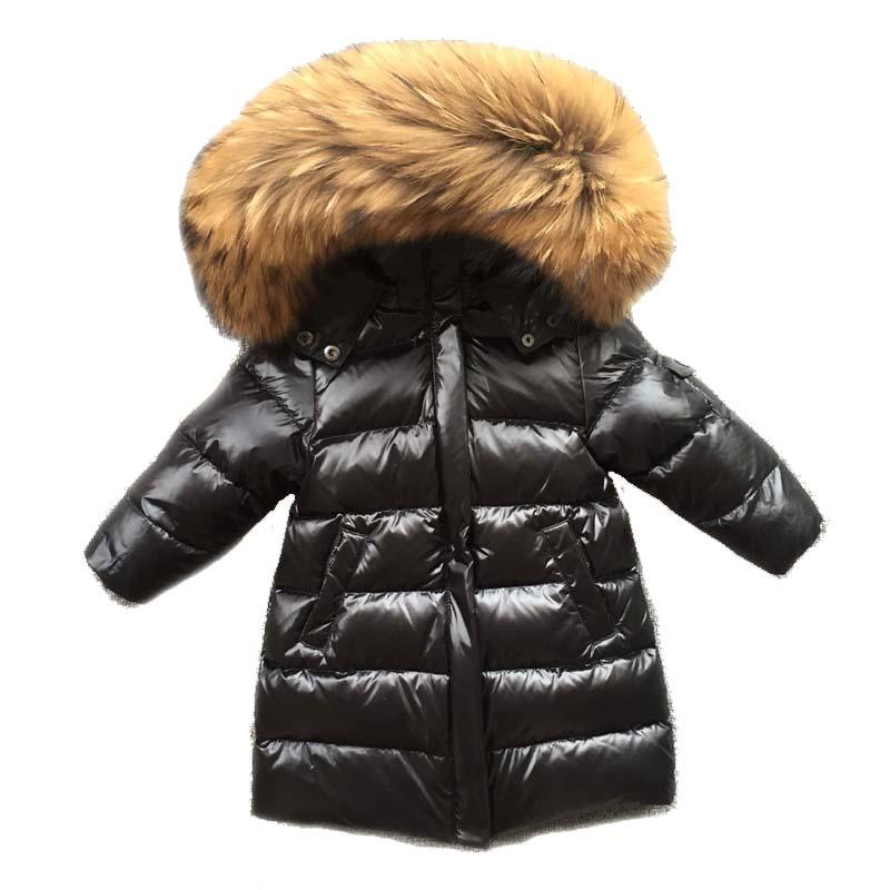 Toddler Kids Baby Girl Boy Winter Warm Fur Hooded Coat Down Jacket Parka Outwear