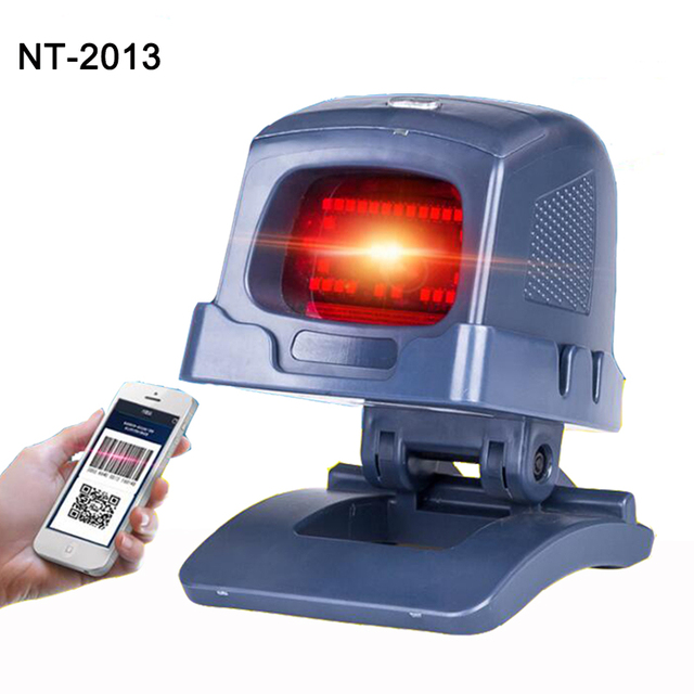 New Auto scanning 2D Laser Desktop Flatbed Barcode Scanner Bar code Reader with USB Interface for Retail Store/Supermarket