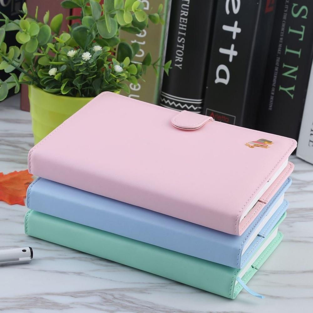 Kunstleer Hardcover Dagboek Notebook Schattig Paard Macaron Kleur - Notitieblokken en schrijfblokken bedrukken