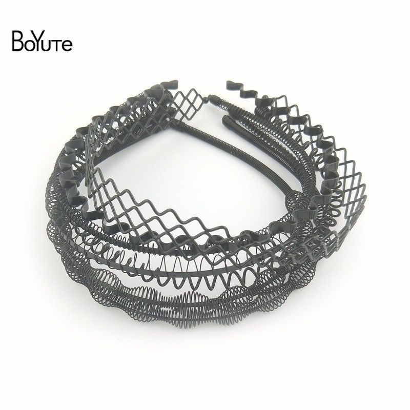BoYuTe Retail 1 Piece Metal Black Hair Band Hairband New Style Black Color Metal Headband (16)