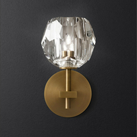 Modern Nordic Model Room Bedside LED Wall Lamp American Simple Designer Villa Hotel G9 Crystal Wall