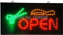 Hair cut shop open signs hot sale 10x19 Inch Semi-outdoor Ultra Bright barber shop signage led sign(China)