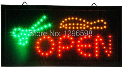 Hair cut shop open signs hot sale 10x19 Inch Semi-outdoor Ultra Bright barber shop signa ...