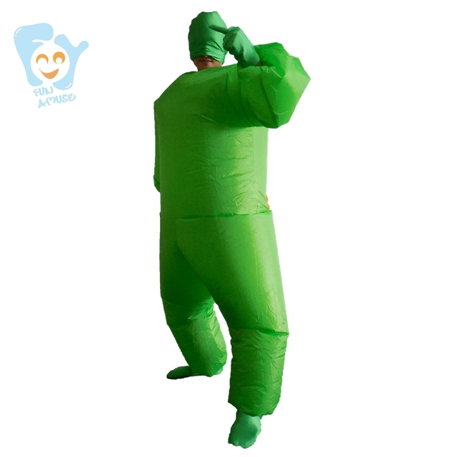 halloween costume men cosplay inflatable green full body costumes suit adult fancy dress stitch adult onesie