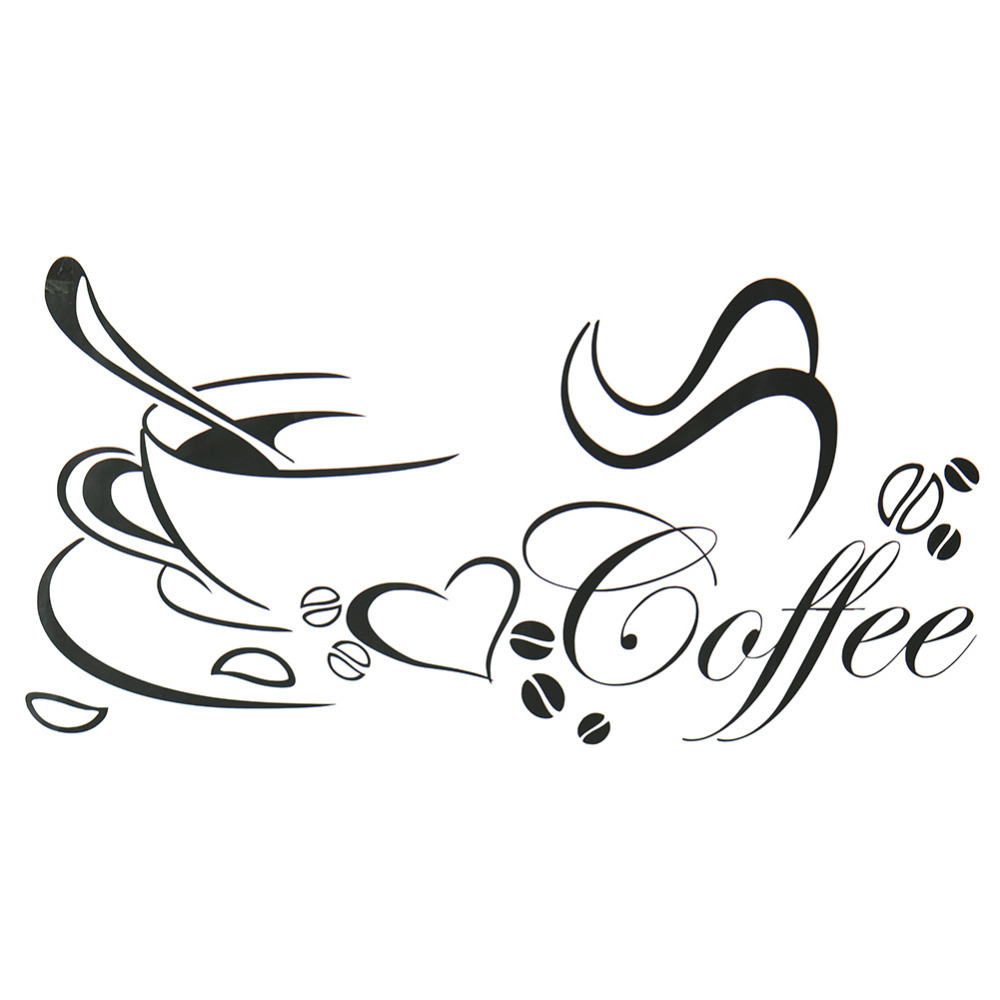 compare prices on coffee wall decorations online shopping buy low newly designed coffee cup for home kitchen stickers waterproof and removable wall decor decals art