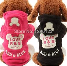 Pet Puppy Dog Cat Polar Fleece Clothes Clothing Hoodies Autumn Winter Puppy Apparel Dog Costume Jumpsuit Jumpers Free Shipping