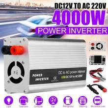 KROAK 4000 Вт DC 12 В в AC 220 В USB автомобильный инвертор зарядное устройство конвертер адаптер DC 12 В AC 220 модифицированный синусоидальный волновой трансформатор