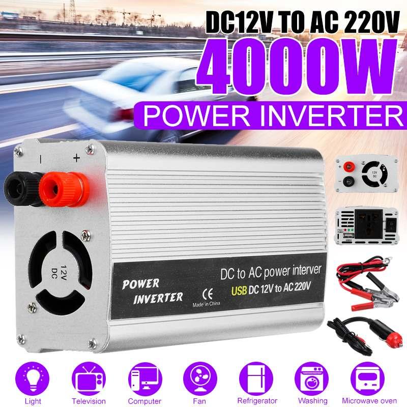 KROAK 4000W DC 12V a 220V AC USB Car Power Inverter Charger Converter Adapter DC 12 para transformador AC 220 Modificado Sine Wave