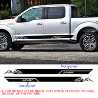 free shipping custom wording YOUR TAXI side door stripe car sticker for ford f150 super crew 5 1/2 box or raptor