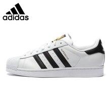 Оригинальные аутентичные Adidas Originals Superstar классика унисекс обувь для скейтбординга женские и мужские кроссовки Классика анти-скользкая