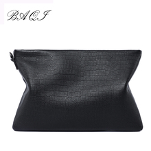 BAQI Brand Men Wallets Clutch Bag Handbags 2019 Fashion Genuine Cow Leather High Quality Ipad Phone Purse Casual New