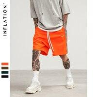 INFLATION 2018 Mens Sportswear Shorts Stripe Side Contrast Color Letter Printing Highstreet Vintage Men Short Sweatpants