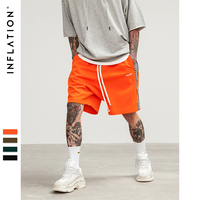 INFLATION 2018 Mens Sportswear Shorts Stripe Side Contrast Color Letter Printing Highstreet Vintage Men Short Sweatpants