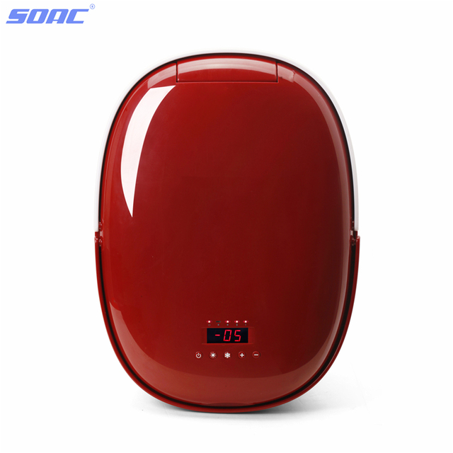 Official Electronic Wine Cooler Car Home Dual Portable Refrigerator for Car -5 to 60 Degree 12V Auto Red