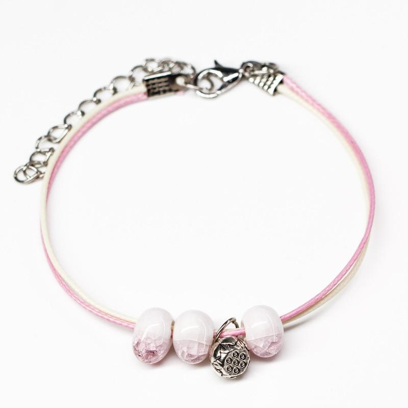 Women Lucky Bracelets Bead Ceramic Charms Bracelets & Bangles Men Handmade Accessories Lovers Sweet Jewelry