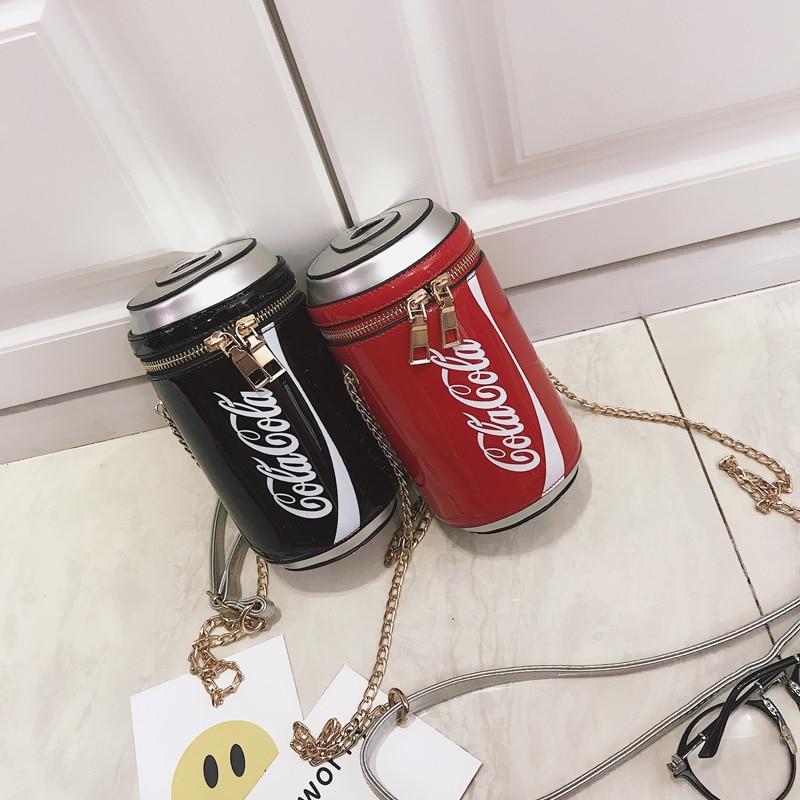 Latas de Cola para as Mulheres Bolsas de Ombro Novo para as Mulheres Bolsa para Meninas Personalidade Moda Rede Crossbody Mini Noite Bolsa Sac 2020
